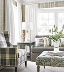 Thibaut Design Percival Plaid in Woven Resource 9: Stripes & Plaids