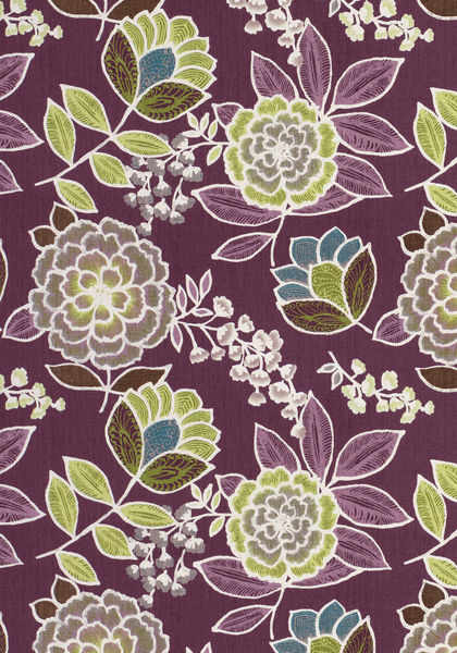 Sulu Plum F913012 Collection Monterey From Thibaut