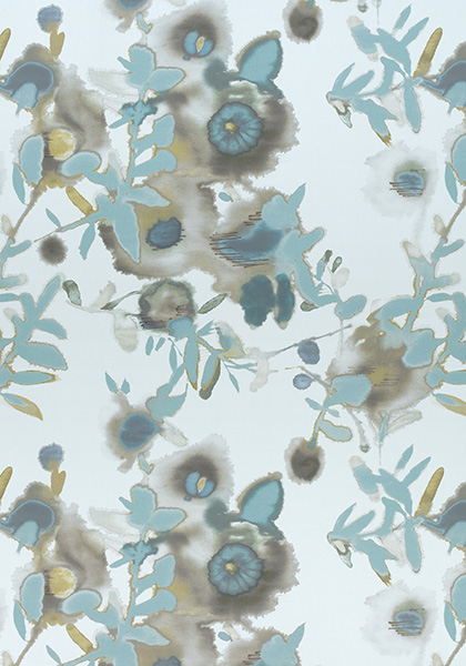Open Spaces Beige And Teal F913085 Collection Summer