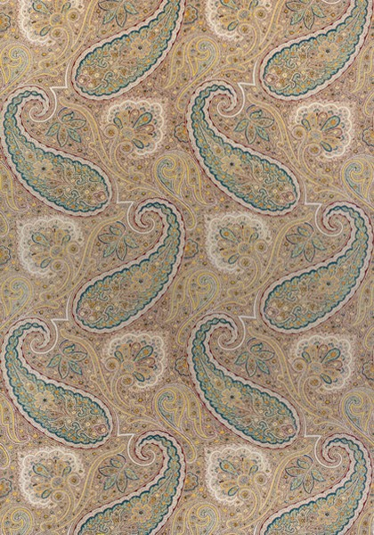Sherrill Paisley Teal And Beige F985076 Collection