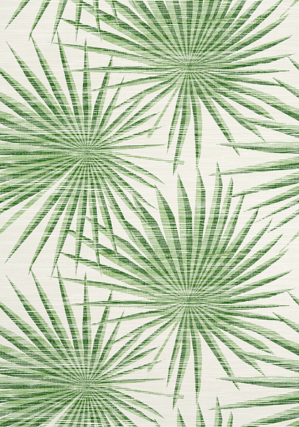 Palm Frond Green And White T10142 Collection Tropics From