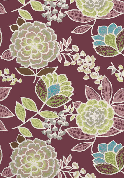 Sulu Plum T13012 Collection Monterey From Thibaut