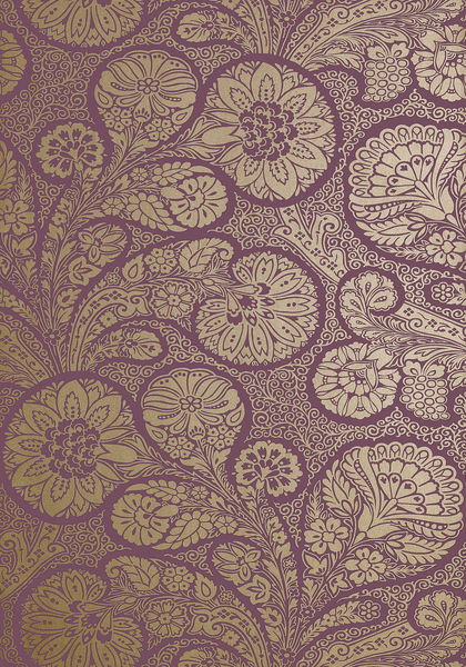 Purple And Gold Floral Wallpaper