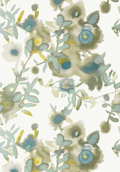 Open Spaces Beige And Teal T13085 Collection Summer House