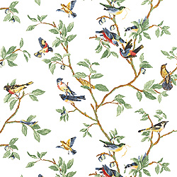 Little Bird White T3118 Collection Spring Lake From Thibaut