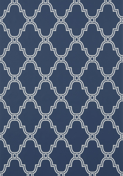 Stanbury Trellis Navy T35124 Collection Graphic Resource From