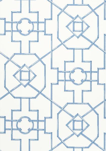 Bamboo Lattice Blue T36158 Collection Enchantment From Thibaut