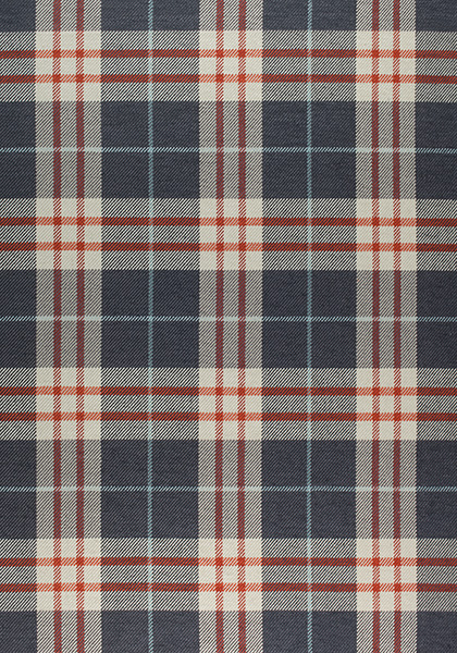 PERCIVAL PLAID, Cinnabar And Slate, W80081, Collection