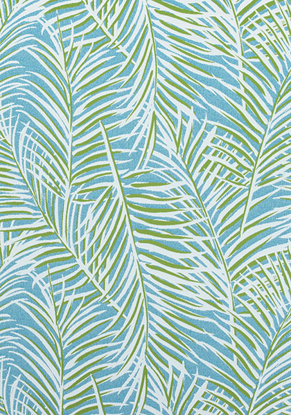 West Palm Woven Kiwi On Spa Blue W80563 Collection